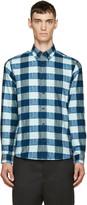 Kenzo Teal Flannel Love Shirt