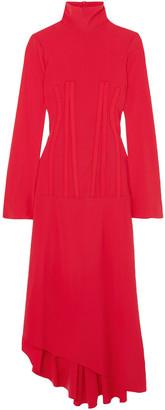 Ellery Dumont Asymmetric Jersey Turtleneck Dress