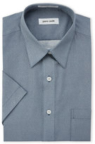 Pierre Cardin Blue Patterned Short Sleeve Dress Shirt