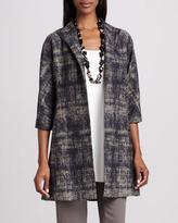 Eileen Fisher Illusion Jacquard Coat, Petite