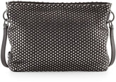Cole Haan Benson Metallic Woven Crossbody Bag, Black/Gray