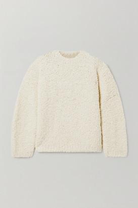 LAUREN MANOOGIAN Astrakhan Alpaca And Wool-blend Boucle Sweater - Cream
