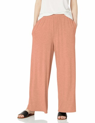 Daily Ritual Amazon Brand Women's Rayon Spandex Wide Rib Lounge Pant