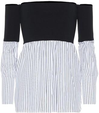Victoria Victoria Beckham Off-the-shoulder cotton-blend top