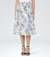Reiss Rennie A-Line Midi Skirt