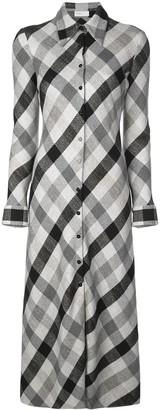 Rosetta Getty Check Print Shirt Dress