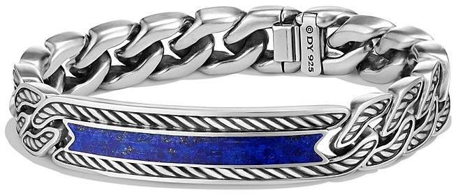 David Yurman Maritime Curb Link ID Bracelet with Lapis Lazuli