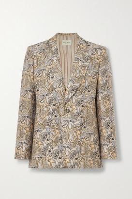 Etro Cotton-blend Brocade Blazer - Ecru