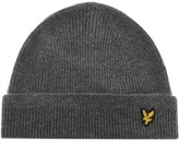 Lyle & Scott Racked Rib Beanie Hat Grey