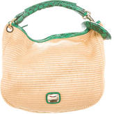 Jimmy Choo Python-Trimmed Small Solar Hobo