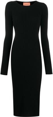 Andamane Ribbed Knit Midi Dress