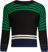Raf Simons Cropped striped wool sweater