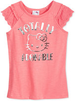 Hello Kitty Flutter-Sleeve Graphic T-Shirt, Toddler & Little Girls (2T-6X)