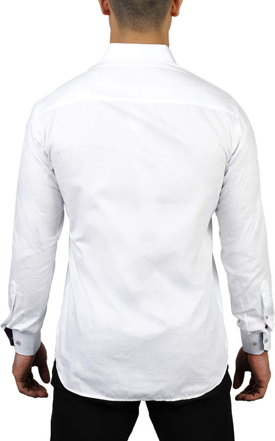 Maceoo Shaped-Fit Floral Jacquard Sport Shirt
