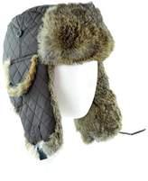 Surell Nylon Trooper Hat With Rabbit.