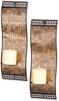 Bed Bath & Beyond Kingsway Rich Mixed Metallic Mosaic Waved Wall Sconces (Set of 2)