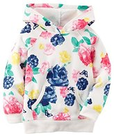 Carter's Little Girl's French Terry Hooded Tunic Sweatshirt (, Floral)