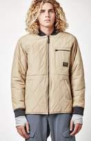 Burton Mallett Khaki Bomber Snow Jacket