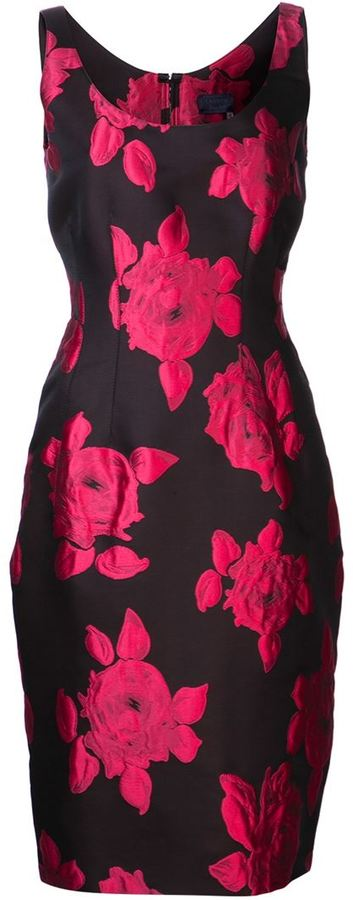 Lanvin embroidered roses dress