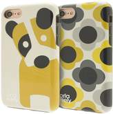 Orla Kiely Two-Part Hardshell Duo Phone Case Pack For IPhone 7 - Ditsy Dog & Giant Flower Spot Design
