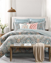 Echo Sterling Floral-Damask Twin Reversible Comforter Set