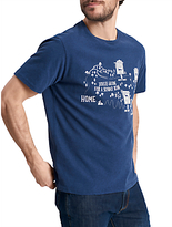 Joules Sunday Ride Graphic T-shirt, French Navy Marl