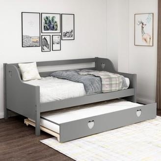 Harper&Bright Designs Solid Wood Twin Daybed with Trundle, Multiple Colors