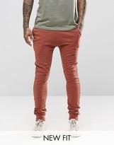 Asos Super Skinny Joggers In Light Rust
