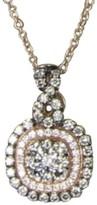 LeVian Le Vian 14K Rose Gold Double Halo Paved 0.76 Ct Diamond Pendant Necklace