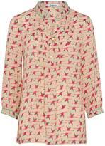 Libelula Chloe Top - Flying Flamingo Print - Hot Pink