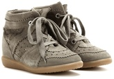 Etoile Isabel Marant Bobby Concealed Wedge Suede Sneakers