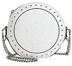Balmain Women's Disco Logo Leather Circle Crossbody