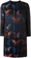 Philipp Plein butterfly patterned coat - women - Polyester/Acetate/Viscose - L
