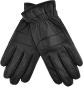 Fred Perry Touch Screen Leather Gloves Black