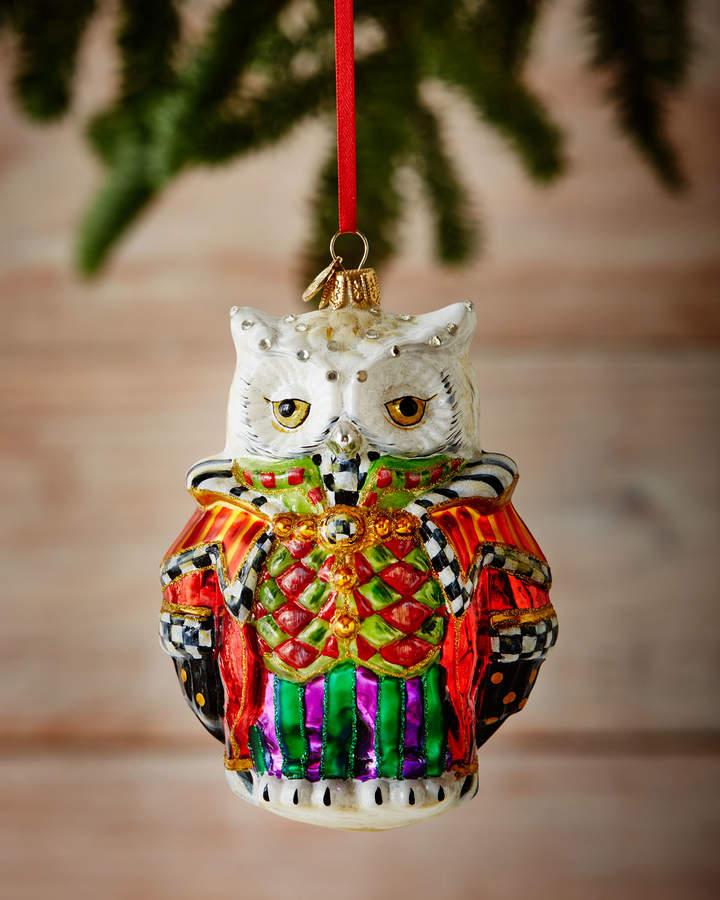 Mackenzie Childs Christmas Ornaments.Mackenzie Childs Wise Owl Christmas Ornament