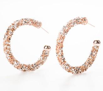 """Violet & Brooks 1-7/8"""" Gloria Glitter Hoop Earrings"""