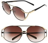 Wildfox Couture Women's 'Dynasty' 59Mm Retro Sunglasses - Black Gold/ Brown Gradient