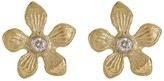 Meira T 14K Yellow Gold Diamond Floral Stud Earrings - 0.04 ctw