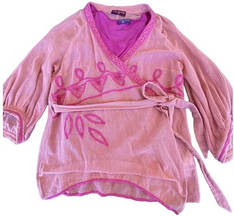One Step Pink Cotton Jacket for Women