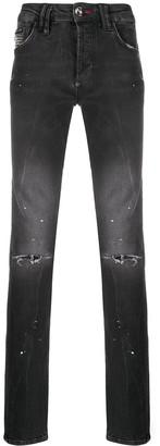 Philipp Plein Vampire Detail Straight Jeans