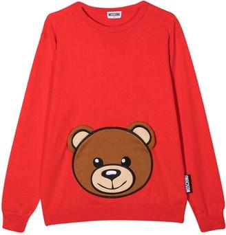 Moschino Red Teen Sweatshirt