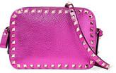 Valentino Rockstud Metallictextured-Leather Shoulder Bag