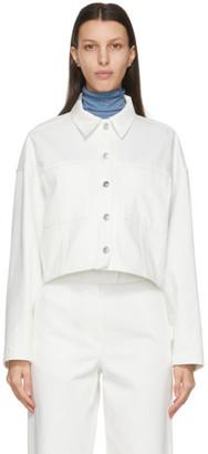 LVIR White Wool Oversized Denim Jacket