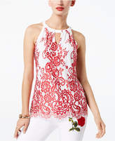 INC International Concepts Lace Keyhole Top, Created for Macy's