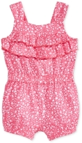 First Impressions Stars-Print Ruffled Cotton Romper, Baby Girls (0-24 months), Created for Macy's