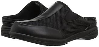 Propet Washable Walker Slide (Black Mesh) Women's Slide Shoes