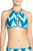 LaBlanca Women's La Blanca 'New Wave' Halter Bikini Top
