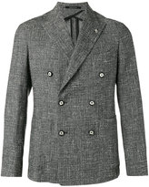 Tagliatore crosshatch double breasted jacket - men - Cotton/Acrylic/Polyamide/Virgin Wool - 48