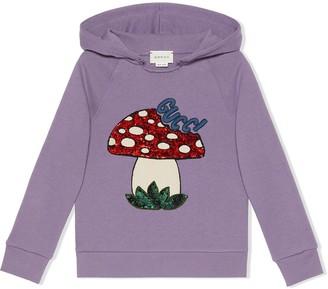 Gucci Kids Mushroom logo hoodie