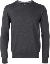 Eleventy round neck plain sweatshirt - men - Virgin Wool - M